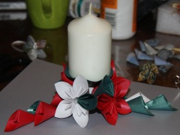 Origami Flower Table Center Candle Holder