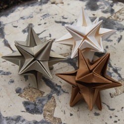 Origami Omega Star Ornaments